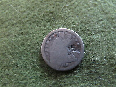 1856 O Seated Liberty Dime New Orleans Mint Early US 10 Cent Silver Coin