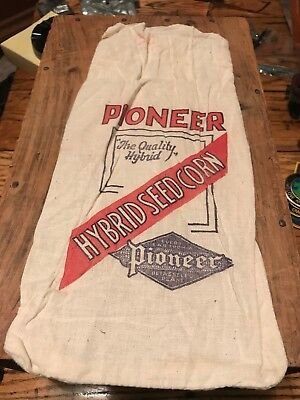 Vintage Early Pioneer Seed Corn Sack Bag Farm Salesman Sample Hybrid