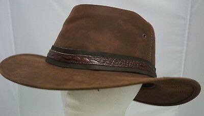 Oiled wax  Leather hat Waterproof  61 cm Large on BIG SALE ONE OFF western