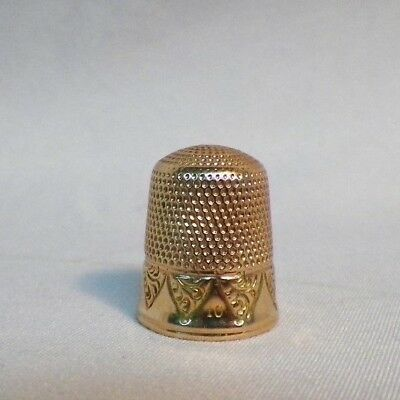 Antique Vintage 14k Gold Sewing Thimble Size 10 (4.01grams)