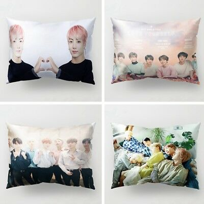 KPOP BTS LOVE YOURSELF JUNGKOOK Rectangle Pillow Case Sofa Bed Cushion Cover New