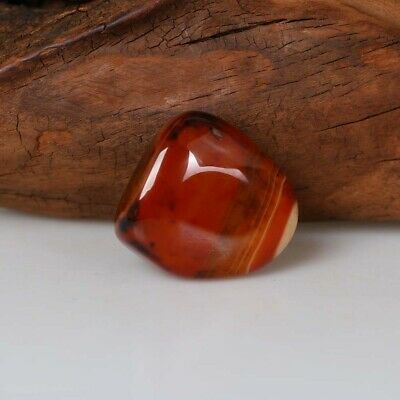 Natural Sardonyx Banded Agate Crystal Polished Minerals Tumbled Palm Stone Decor