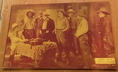 Tom Mix In The Best Bad Man Wm Fox Pictures 1928 Arcade Exhibit Post Card Nice