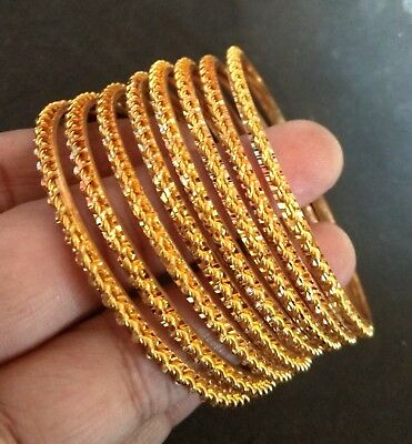 22K Gold Plated Designer 8 Pcs Bangle All time wear High Quality Bracelet ,2.4''