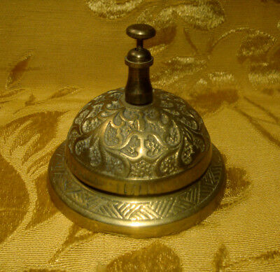 Vintage Ornate Solid Brass Counter / Front Desk Call Bell