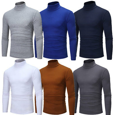 New Men's Winter Warm Cotton High Neck Pullover Jumper Sweater Tops Turtleneck