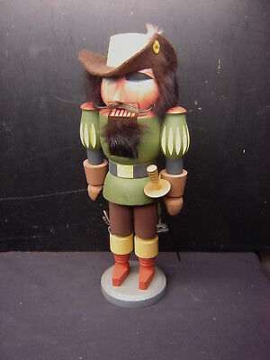 "13""  Wood Nutcracker Erzgebirge  Musketeer with Sword Christmas time Ornament"