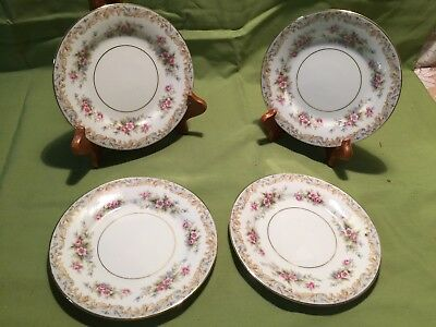 Lot Of 4  Noritake China Bread & Butter Plates In The Somerset #5317 Pattern