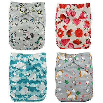 Ohbabyka Reusable Pocket Diapers Baby Cloth Diaper  Washable Baby Nappies Cover