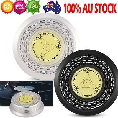 50/60Hz Bubble Level Speed Detection Turntable Vinyl Record Stabilizer Clamp NEW