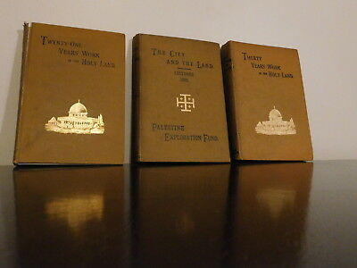 Palestine Exploration fund - Lot of 3 - 1886-1892-1895 - Work In The Holy Land