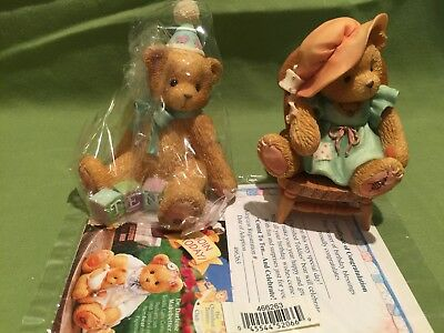 Lot Of 2 Cherished Teddies Count To Ten and Celebrate -A Mother's Love Bears All