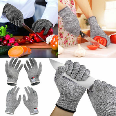 1Pair Cut Resistant Level 5 Work Knife Safety Gloves Grip Protection Non Slip