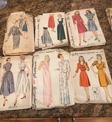 Vintage Sewing Patterns 1950's 60's various conditions sizes 12,14,16