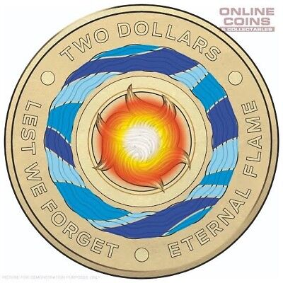 1 x $2 coin 2018 ** ETERNAL FLAME ** Lest We Forget
