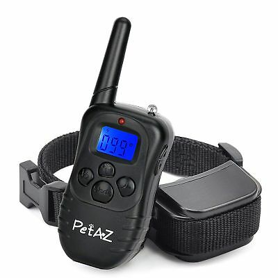 Dog Training Electric Shock Collar 330 Yards Remote, Rechargeable Rainproof Beep