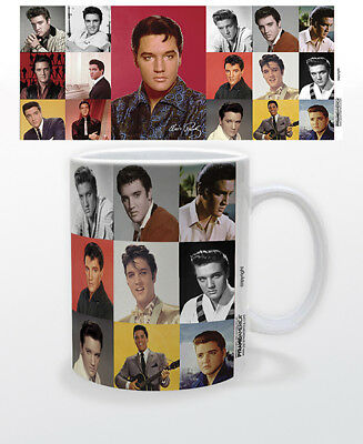 Elvis Presley Head Shot Collage 11 Oz Coffee Mug Legend Icon Music Great Gift!!!