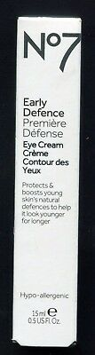 No7 BOOTS EARLY DEFENCE  EYE CREAM BRAND NEW