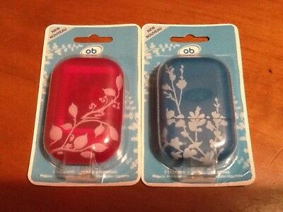 O.B. Pro Comfort Reusable Carry Case with 3 Regular Tampons Asst Colors Lot of 2