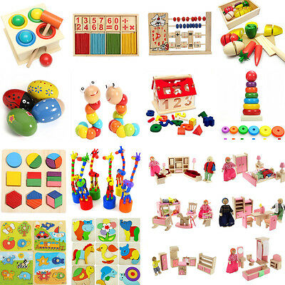 Funny Wooden Toy Gift Baby Kid Children Intellectual Developmental Educational
