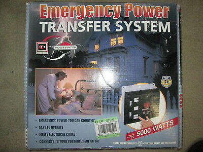 Briggs & Stratton 5000 Watt Emergency Generator Transfer Switch Power Backup