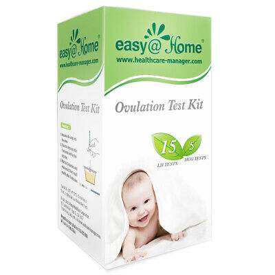 Easy@Home Ovulation (LH) and Pregnancy (HCG) Combo Urine Test Strips 15LH+5HCG