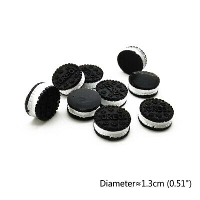 10Pcs Dollhouse Resin Oreo Simulated Sandwich Biscuit 1:6 Miniature Food Decor