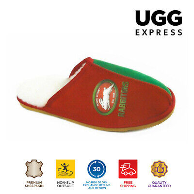 NRL Official Licensed UGG Adult Unisex Slippers South Sydney Rabbitohs