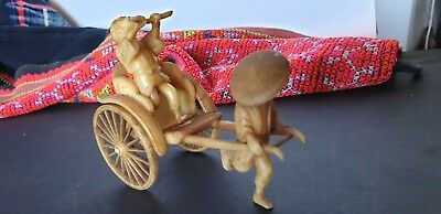 Vintage 1940's 50's Japanese Celluloid Miniature Rickshaw from Occupied Japan