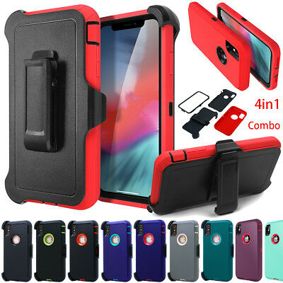 iPhone XS Max XR X Case Heavy Duty Stand Belt Clip Fits Otterbox Defender Series