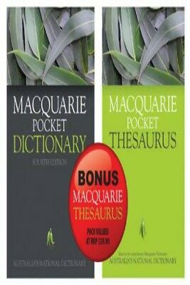 Macquarie Pocket Dictionary 4E And Bonus Pocket Thesaurus by Various [Other]