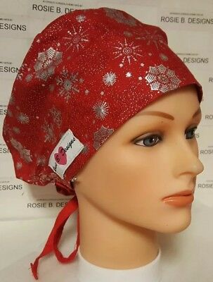 On Christmas Time   /pixie Hat  / Scrub / Medical Surgical / Cap