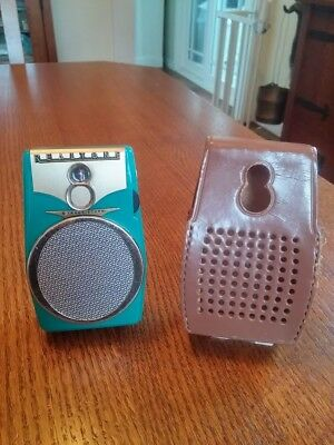 Nice Realtone Model 1088 Working 8 Transistor Radio,with Original Leather Case