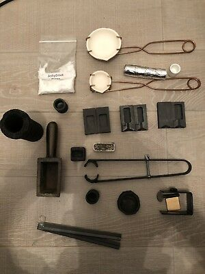 Mixed Lot Graphite, Cast Iron, Mould Ingot for Casting Gold / Silver  Furnace
