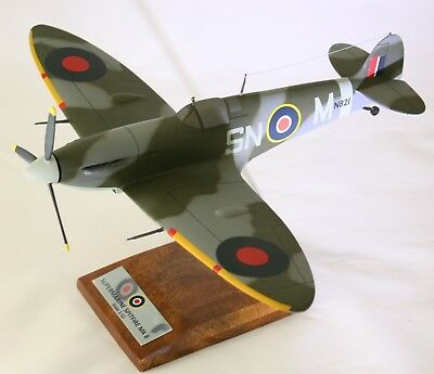 Raf Vickers Supermarine Spitfire 1:32 Handcrafted Desk Top Model - 1 Available