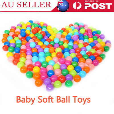 25/50/100pcs Colorful Soft Plastic Ball funny baby kids Ocean Swim Pool Pit Toy