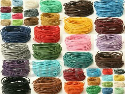1mm Coloured Waxed HEMP String Cord Smooth Twine Jewelry Crafts Knotting Beading
