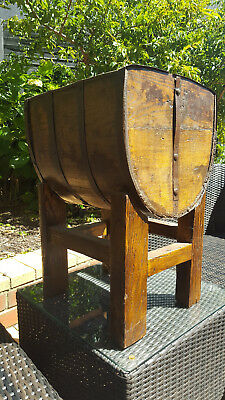 chinese wooden bucket on stand antique