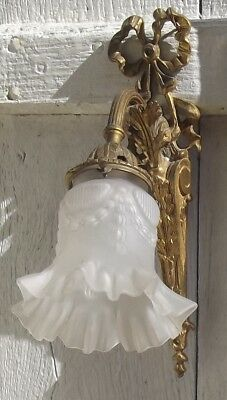Pair of Antique French Bronze Sconces elegant empire wall lights