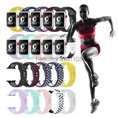 Silicon Sport Bracelet Strap For Apple Watch Band Series 5 4 3 2 44mm 42mm 40mm