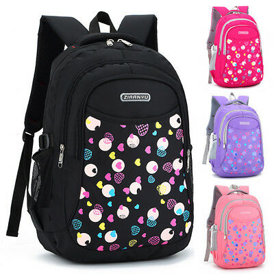 Children Boy Girl Backpack School Shoulder Bag Travel Bookbag Kid Rucksack Large