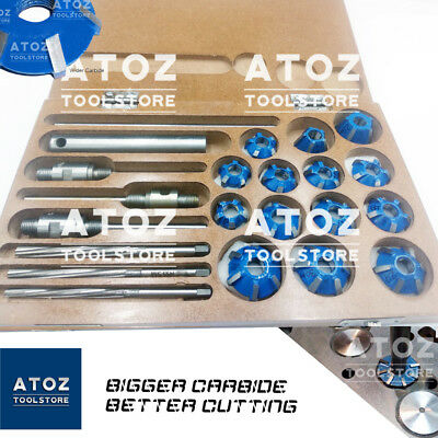 3 Angle Carbide Tipped Valve Seat Face 14 Cutters 30-45-70 (20 Bore) Degree BEST