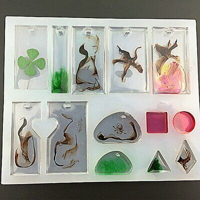 Silicone Earring Mold DIY Mould Resin Craft Tool Stud Pendant Necklace Making