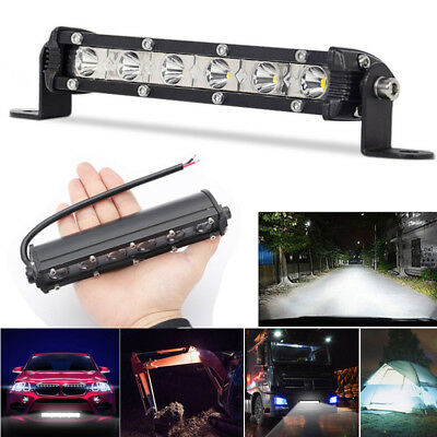 8inch 60W Spot Beam Slim LED Work Light Bar Single Row Car SUV Off road Lamps