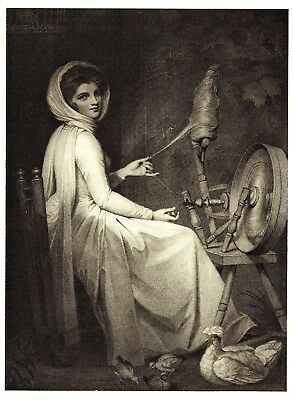 Emma, Lady Hamilton -The Spinster (Mistress of Lord Nelson) After George Romney