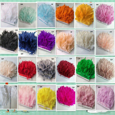 wholesale Turkey Feather Fringe Ribbon Trim (1-10 m) DIY Craft Decor Sewing
