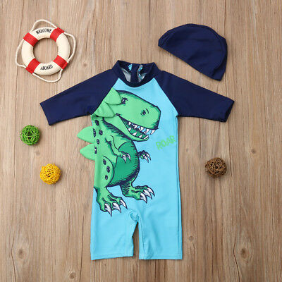 2pcs Baby Kid Boy Sun Protective Swimwear Rash Guard Costume Bathing Suit Set UK