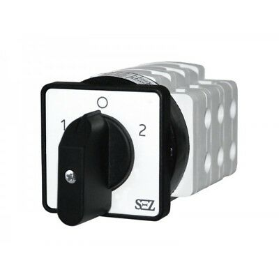 Sez Cam Switches 1-0-2 Rotary Turn-Switch 40A with Grip Generator 500V 3P