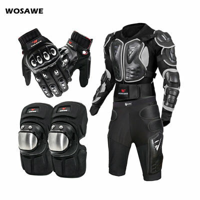 Body Protective Gear Motorcycle Jacket Butt Shorts Knee Guards Motorbike Gloves