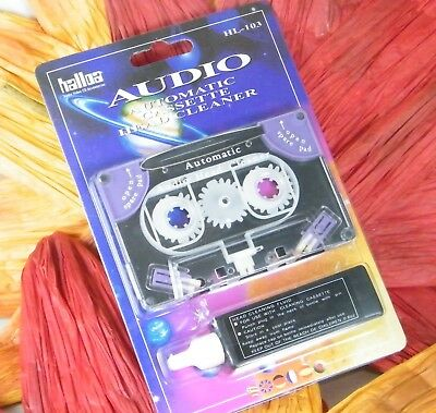 ♫ AUTOMATIC K7 HEAD CLEANER + PRODOTTO GIRADISCHI k7 / cassette audio VINTAGE ♫